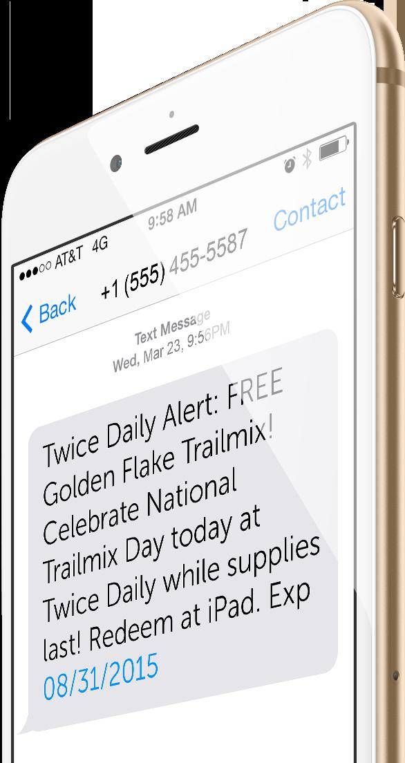 Customer Loyalty Programs textALERT Message
